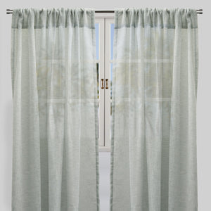Champion Set of 2 Sheer Curtain Panels | Size 54X96 | Color Sage