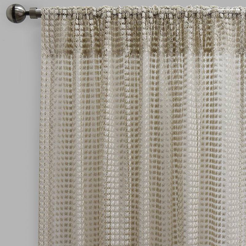 Clover Curtain Panels | Size 54x96 | Color Ivory