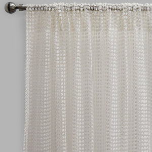 Clover Set of 2 Sheer Curtain Panels | Size 54X96 | Color White
