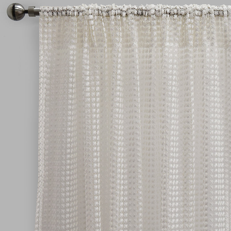 Clover Curtain Panels | Size 54x96 | Color White