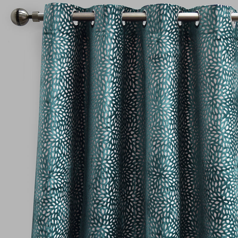 Codes Curtain Panels | Size 54x96 | Color Turquoise