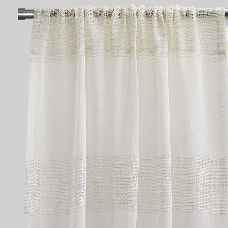 Deluca Curtain Panels | Size 54x96 | Color White