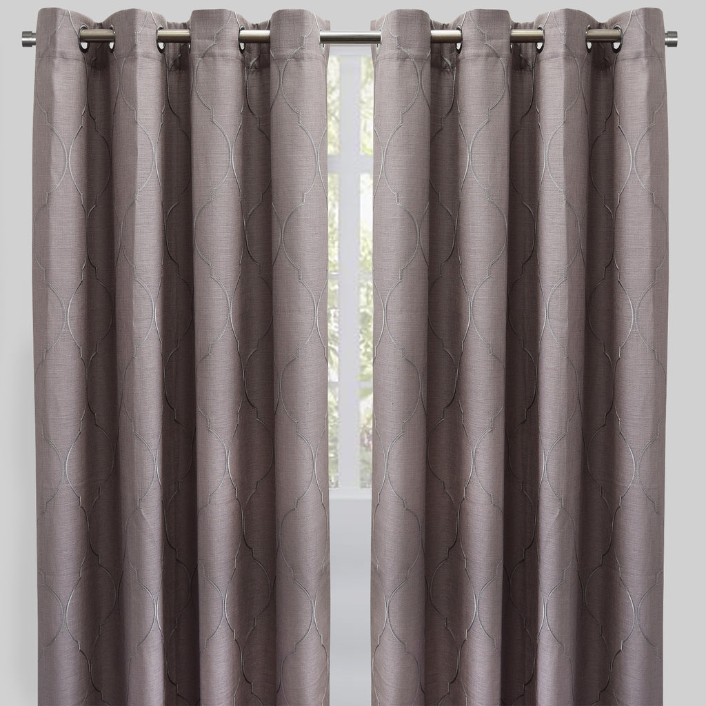 Emily Curtain Panels | Size 54x96 | Color Silver