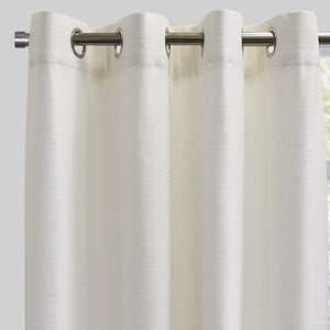 Franco Set of 2 Linen Look Curtain Panels | Size 54X96 | Color White