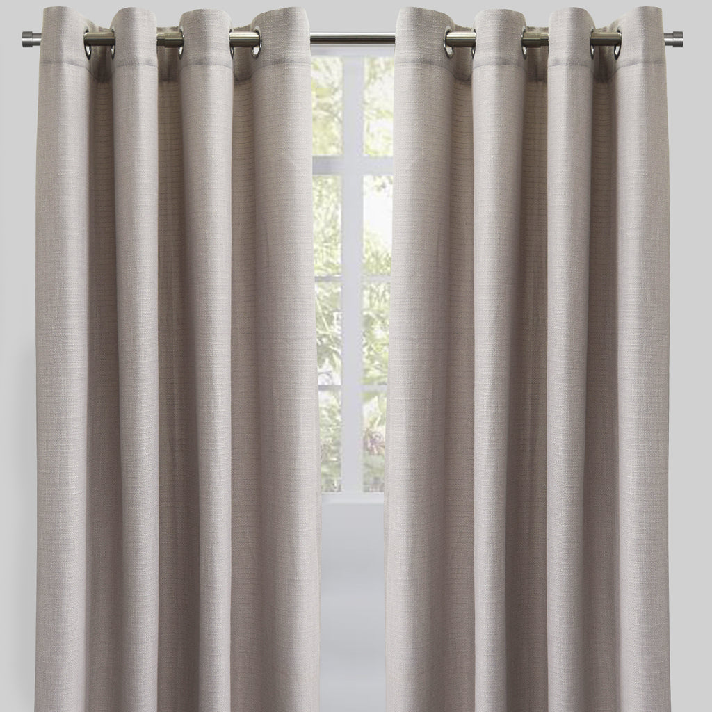 Franco Set of 2 Linen Look Curtain Panels | Size 54X96 | Color Pearl