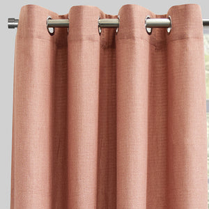 Franco Set of 2 Linen Look Curtain Panels | Size 54X96 | Color Blush