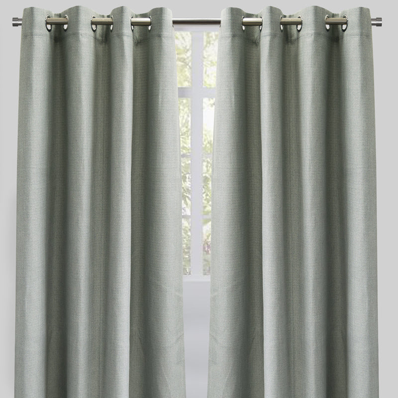 Franco Set of 2 Linen Look Curtain Panels | Size 54X96 | Color Sage