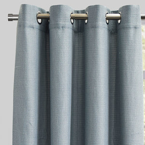 Franco Set of 2 Linen Look Curtain Panels | Size 54X96 | Color Sky