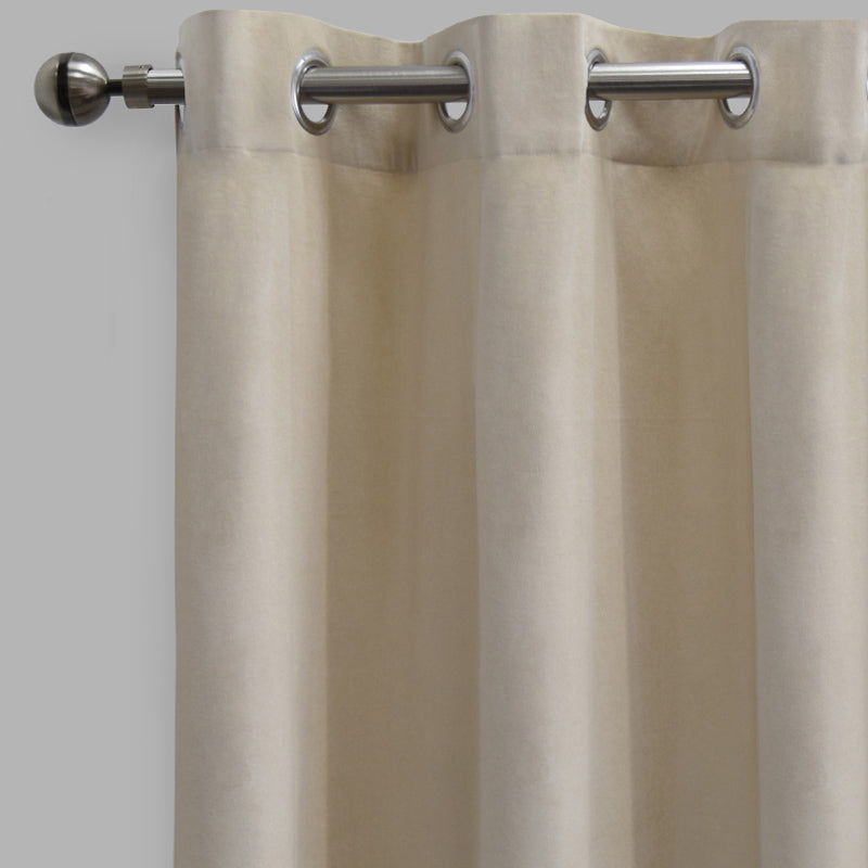 Frank Set of 2 Rich Velvet Curtain Panels | Size 54X108 | Color Ivory