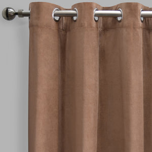 Frank Set of 2 Rich Velvet Curtain Panels | Size 54X108 | Color Mocha