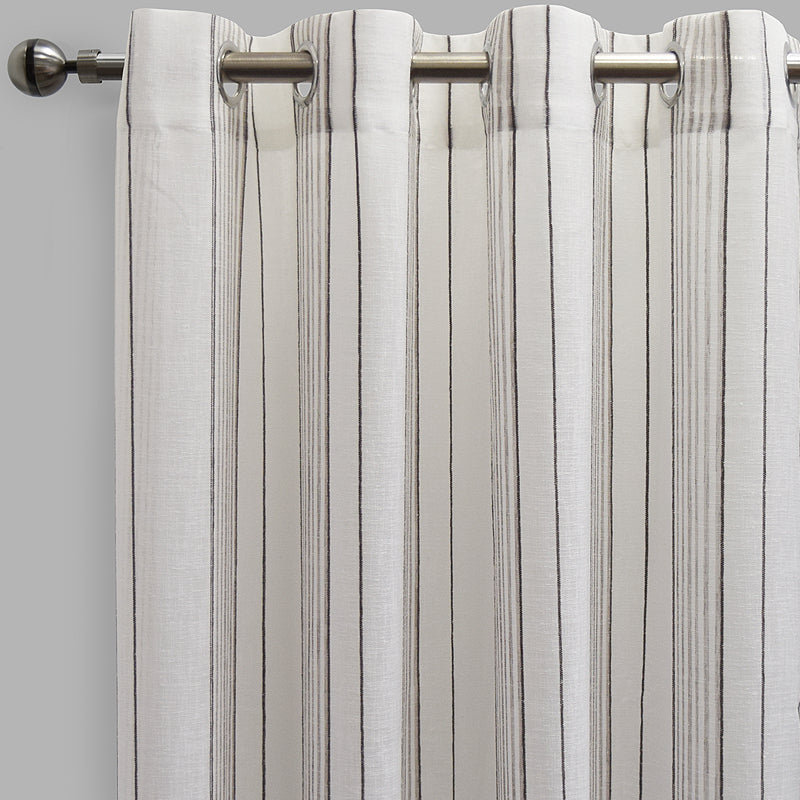 Gabe Curtain Panels | Size 54x96 | Color White/Mocha