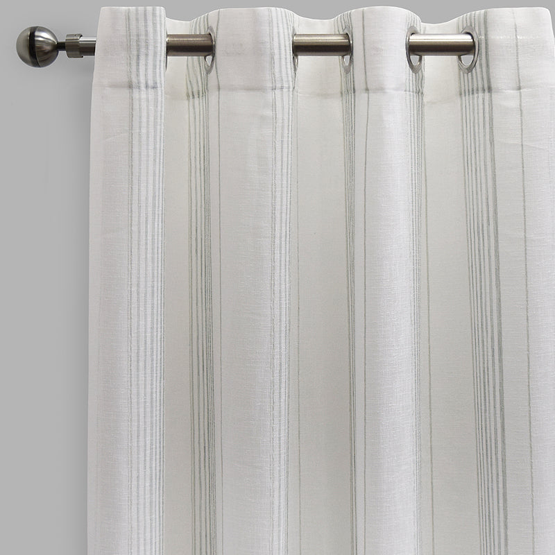 Gabe Curtain Panels | Size 54x96 | Color White/Spa