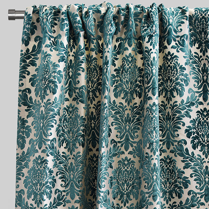 Georgina Curtain Panels | Size 54x96 | Color Turquoise