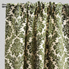 Georgina Set of 2 Cut Velvet Curtain Panels | Size 54X96 | Color Olive