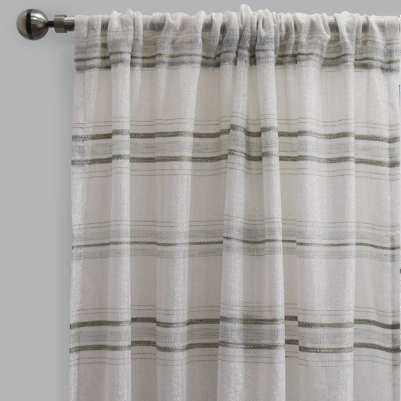 Giorgio Set of 2 Linen Look Curtain Panels | Size 54X96 | Color Spa