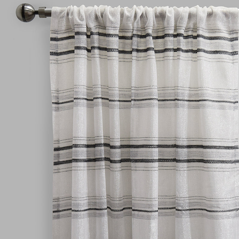 Giorgio Set of 2 Linen Look Curtain Panels | Size 54X96 | Color Gray
