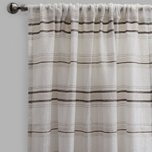 Giorgio Set of 2 Linen Look Curtain Panels | Size 54X96 | Color Beige
