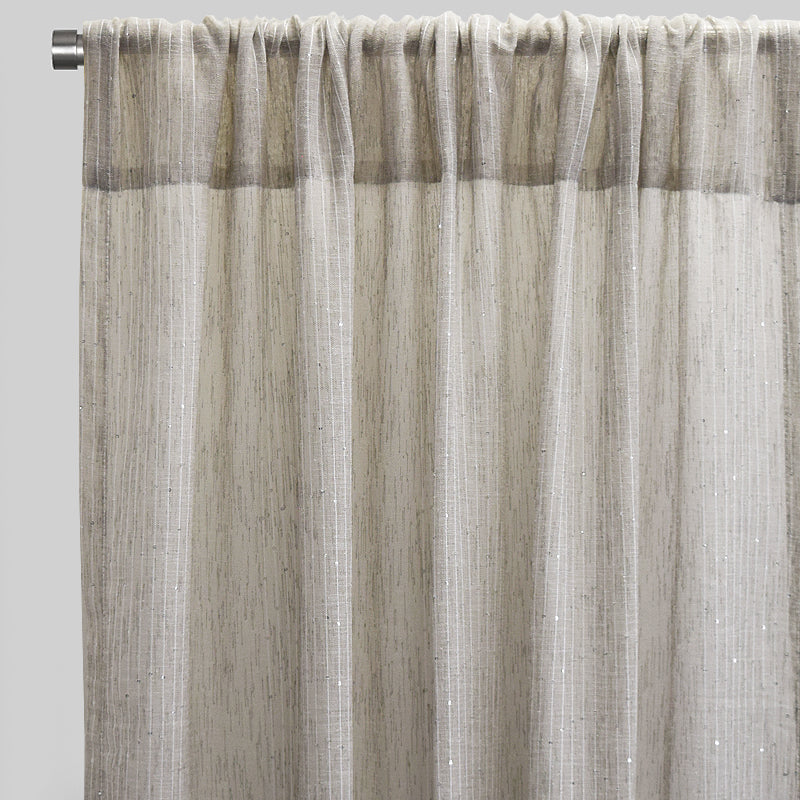 Glow Set of 2 Sheer Curtain Panels | Size 54X96 | Color Linen