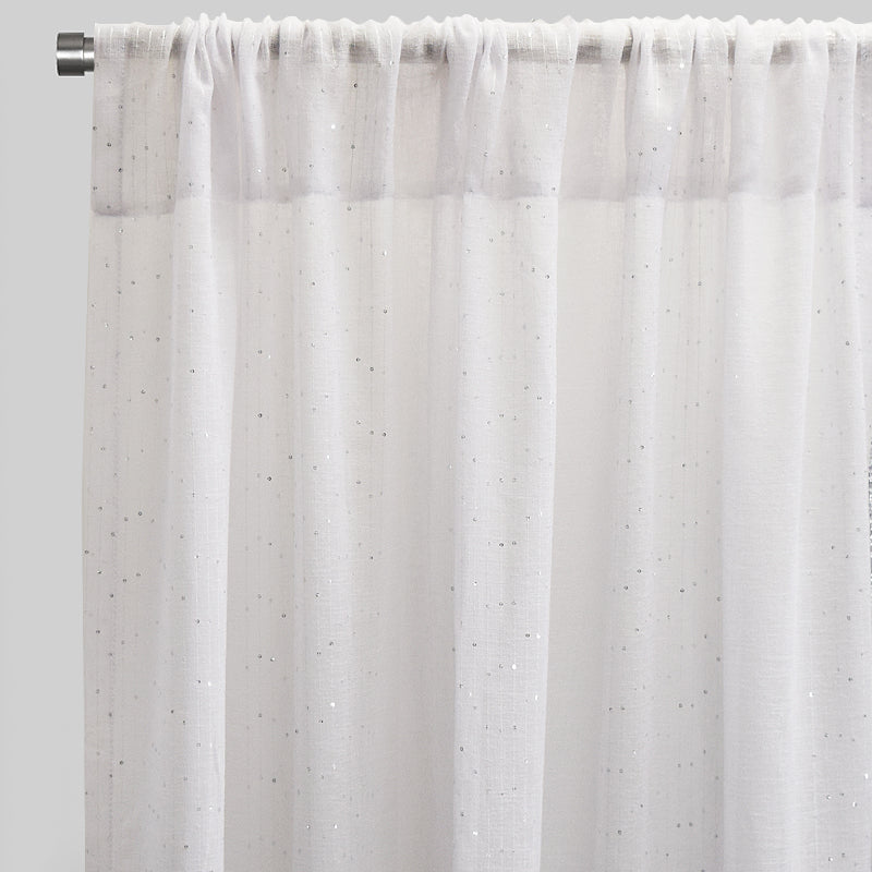 Glow Set of 2 Sheer Curtain Panels | Size 54X96 | Color White