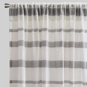 Gotti Set of 2 Sheer Curtain Panels | Size 54X96 | Color Grey