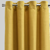 Halsey Set of 2 Linen Look Curtain Panels | Size 54X96 | Color Mustard