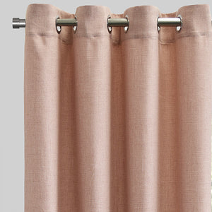Halsey Set of 2 Linen Look Curtain Panels | Size 54X96 | Color Blush