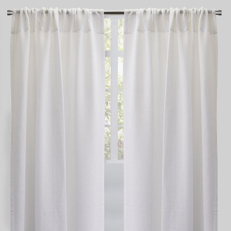 Heritage Set of 2 Sheer Curtain Panels | Size 54X96 | Color White