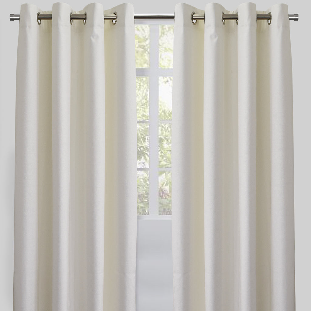 Ilan Set of 2 Room Darkening Sheer Curtain Panels | Size 54X96 | Color White