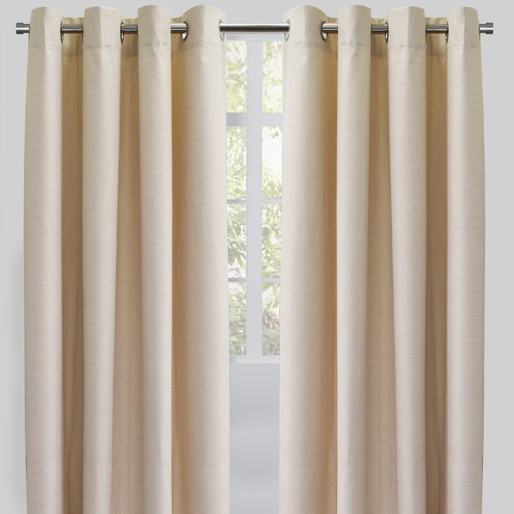 Ilan Set of 2 Room Darkening Sheer Curtain Panels | Size 54X96 | Color Natural