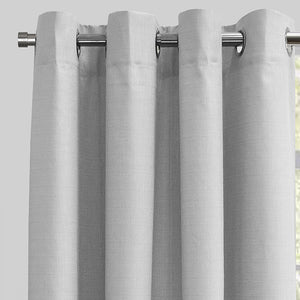 Ilan Set of 2 Room Darkening Curtain Panels | Size 54X96 | Color Grey