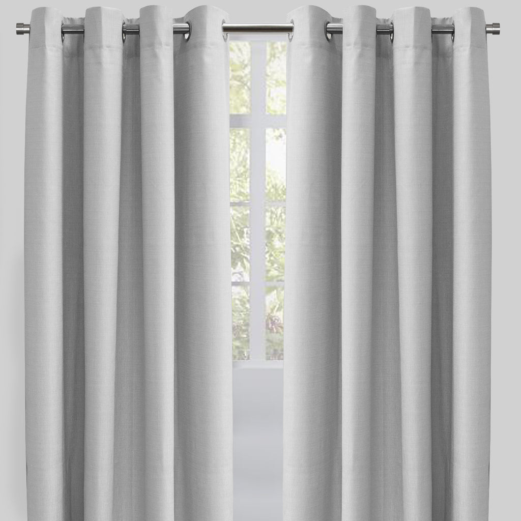 Ilan Set of 2 Room Darkening Sheer Curtain Panels | Size 54X96 | Color Grey