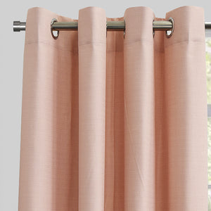 Ilan Set of 2 Room Darkening Curtain Panels | Size 54X96 | Color Pink