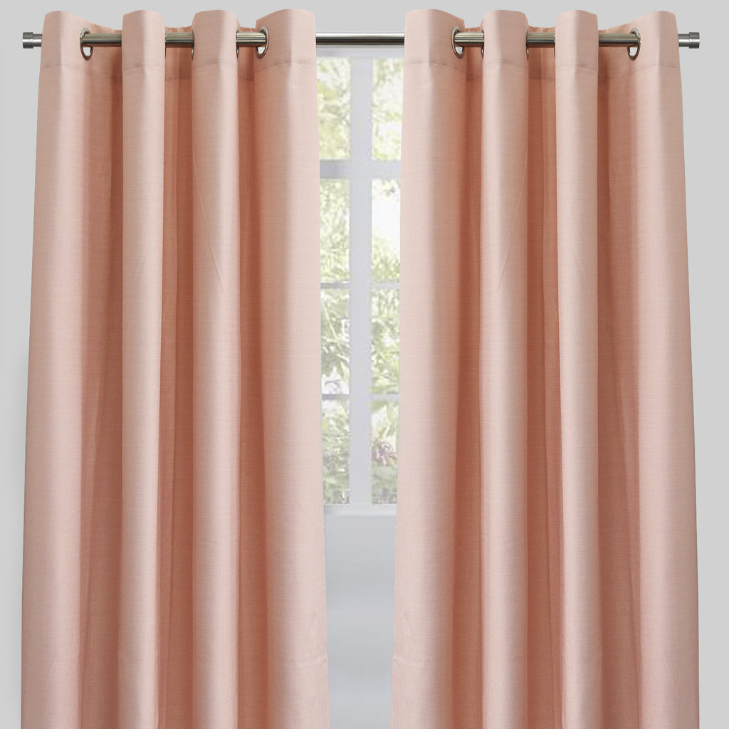 Ilan Set of 2 Room Darkening Sheer Curtain Panels | Size 54X96 | Color Pink