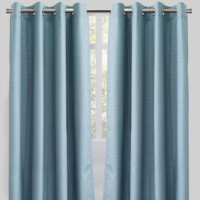 Ilan Set of 2 Room Darkening Curtain Panels | Size 54X96 | Color Ocean
