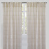 Jimmy Set of 2 Sheer Curtain Panels | Size 54X96 | Color Natural