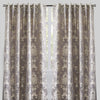 Katherine Set of 2 Jacquard Curtain Panels | Size 54X96 | Color Silver
