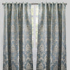 Katherine Set of 2 Jacquard Curtain Panels | Size 54X96 | Color Teal
