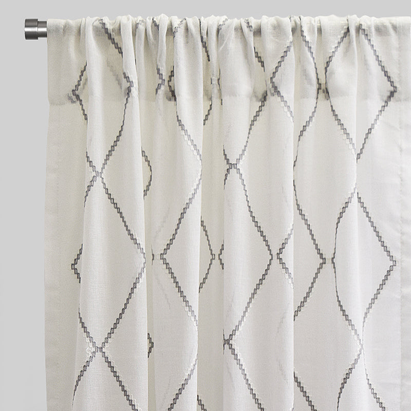 Katie Curtain Panels | Size 54x96 | Color Gray