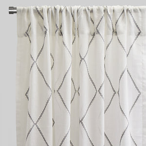Katie Set of 2 Linen Curtain Panels | Size 54X96 | Color Gray
