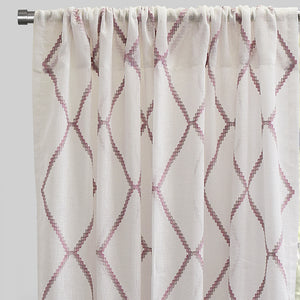 Katie Set of 2 Linen Curtain Panels | Size 54X96 | Color Pink