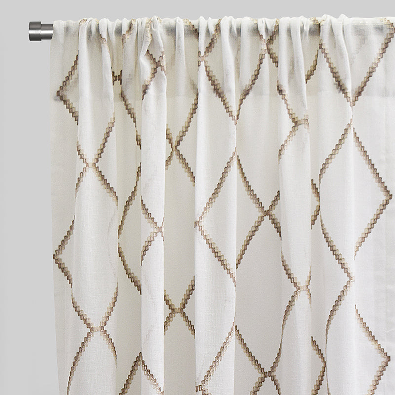Katie Curtain Panels | Size 54x96 | Color Beige
