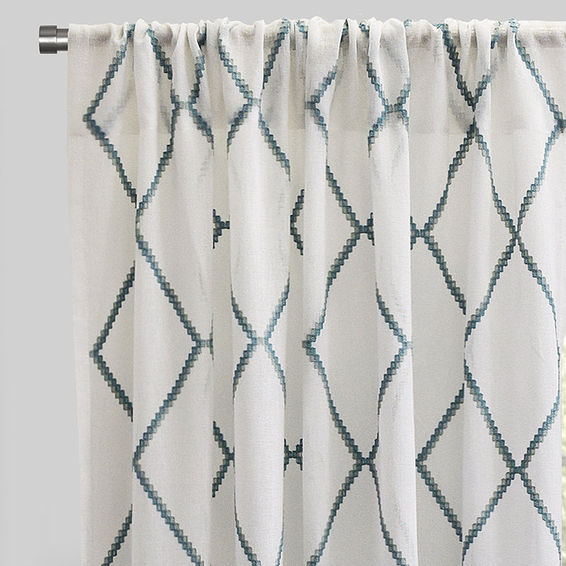 Katie Curtain Panels | Size 54x96 | Color Teal