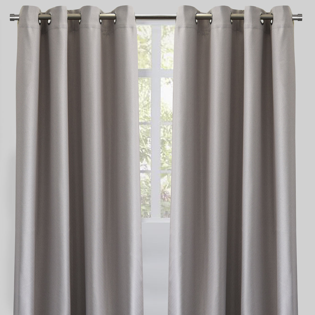 Logic Curtain Panels | Size 54X84 | Color Silver