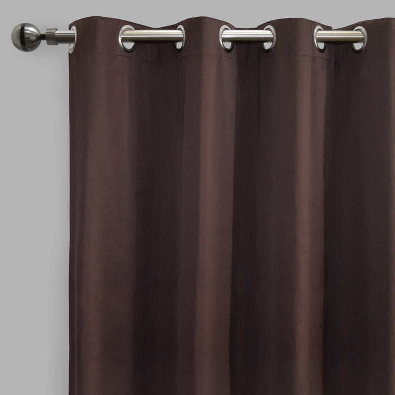 Lounge Set of 2 Cotton-Blend Curtain Panels | Size 54X108 | Color Espresso
