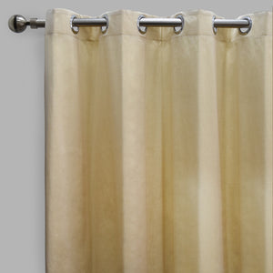 Lounge Set of 2 Cotton-Blend Curtain Panels | Size 54X108 | Color Chiffon