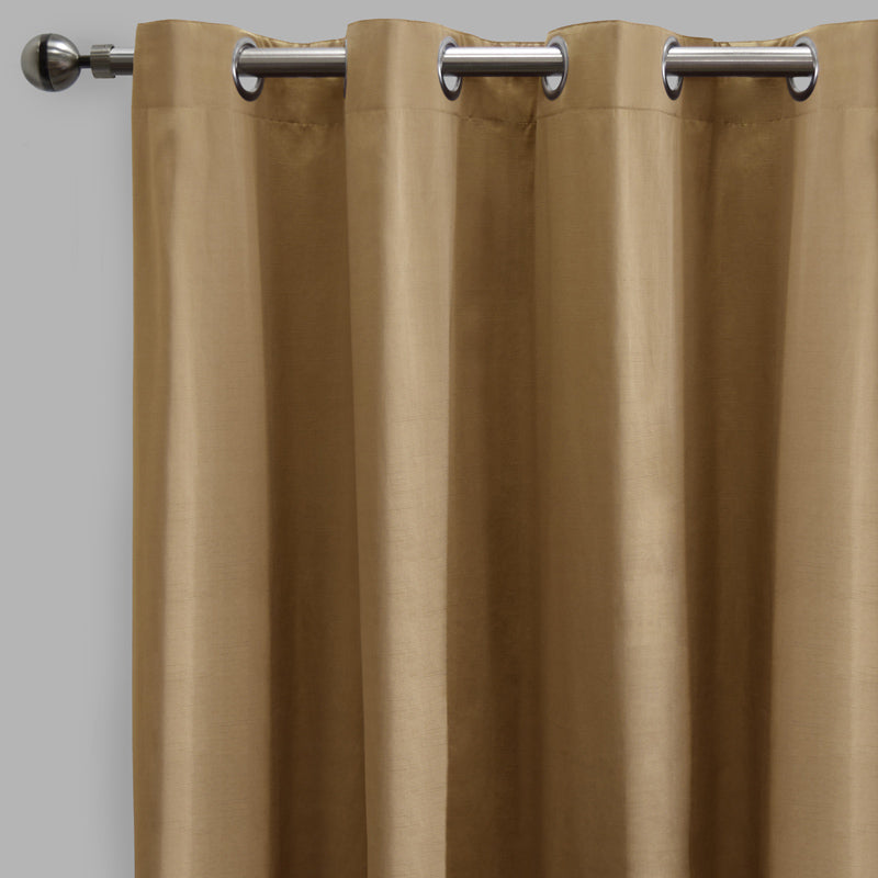 Lounge Set of 2 Cotton-Blend Curtain Panels | Size 54X108 | Color Gold