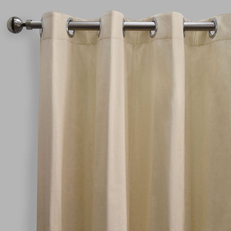 Lounge Set of 2 Cotton-Blend Curtain Panels | Size 54X108 | Color Ivory