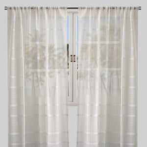 Mika Set of 2 Sheer Curtain Panels | Size 54X96 | Color White