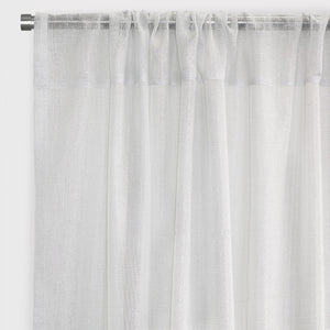 Morocco Set of 2 Sheer Curtain Panels | Sizes 54X84 & 54X96 | Color White