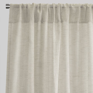 Morocco Set of 2 Sheer Curtain Panels | Sizes 54X84 & 54X96 | Color Ivory